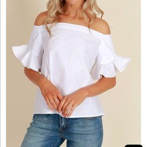 NWT white off shoulder top